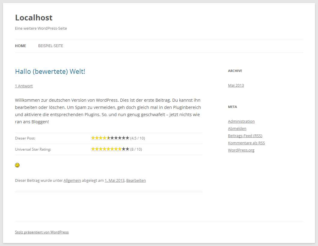 Universal Star Rating Plugin WordPress, Download, Install