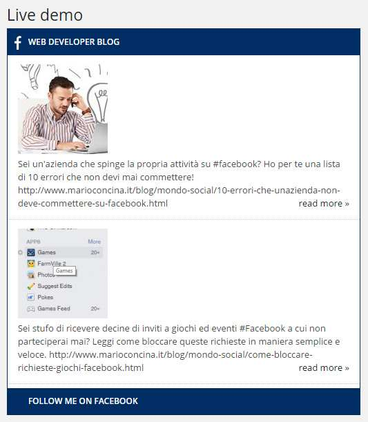 Easy Facebook Post Feed Plugin WordPress