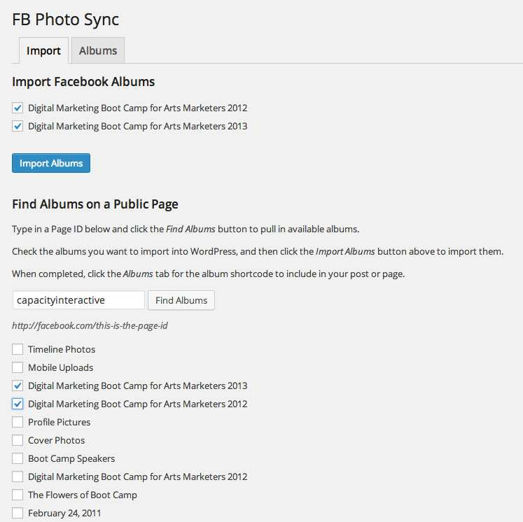 FB Photo Sync Plugin WordPress, Download, Install