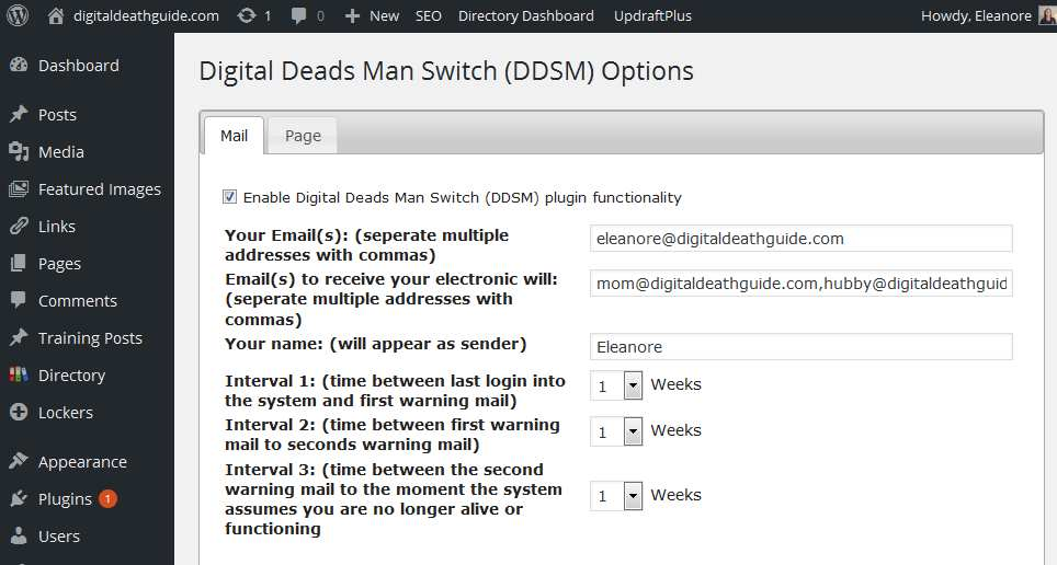 Digital Deads Man Switch (DDSM) Plugin WordPress, Download, Install