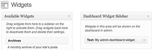 Dashboard Widget Sidebar Plugin WordPress, Download, Install