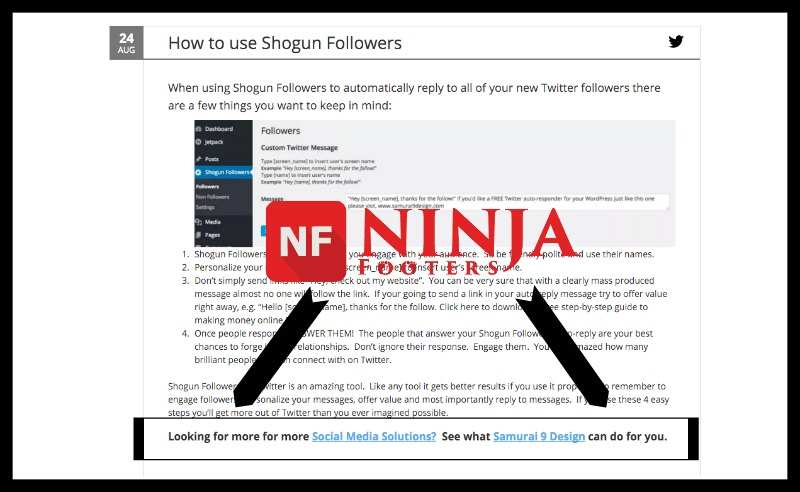 Ninja Footers Plugin WordPress, Download, Install