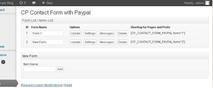 Paypal Form Plugin WordPress, Download, Install