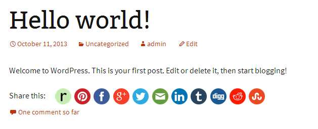 Crafty Social Buttons Plugin WordPress, Download, Install
