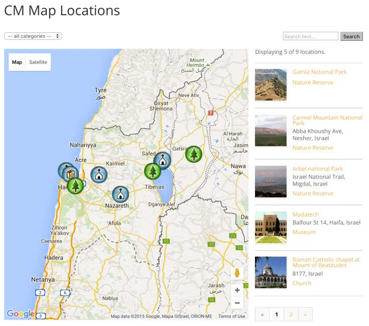 CM Map Locations Plugin WordPress, Download, Install