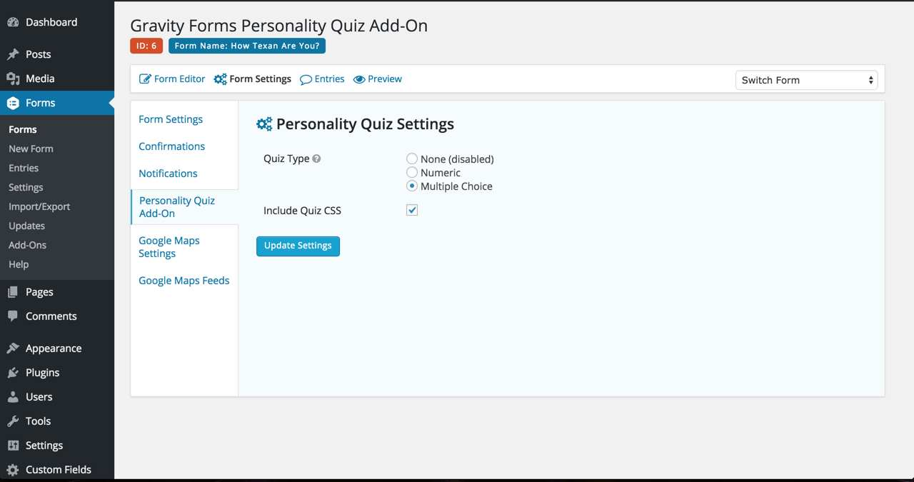 Gravity Forms Personality Quiz Add-On Plugin WordPress, Download, Install