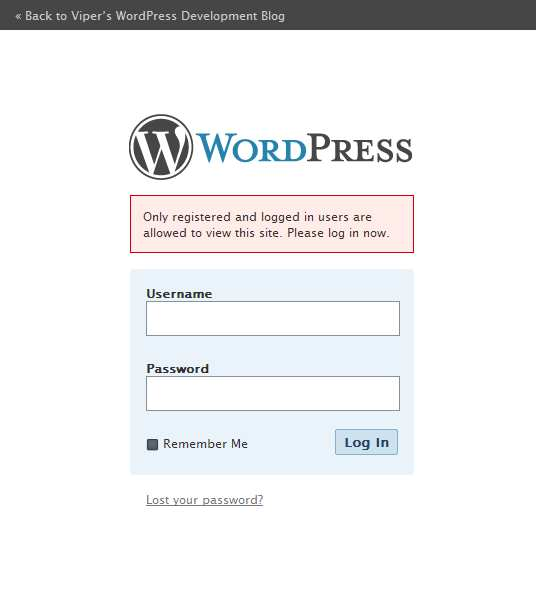 Registered Users Only Plugin WordPress, Download, Install