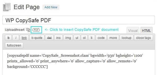 CopySafe PDF Protection Plugin WordPress