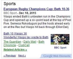 Sports News Headlines Widget Box In Any Language Plugin WordPress
